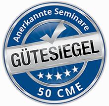 Psychosomatische Grundversorgung - Seminar - Kurs - Seminarorganisation - Fuchs - Gütesiegel blau